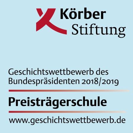 Logo Preisträgerschule Körber Stiftung 2019